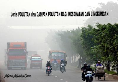 Jenis POLUTAN dan DAMPAK POLUTAN BAGI KESEHATAN DAN LINGKUNGAN, Bahaya Polutan, Polusi Udara.