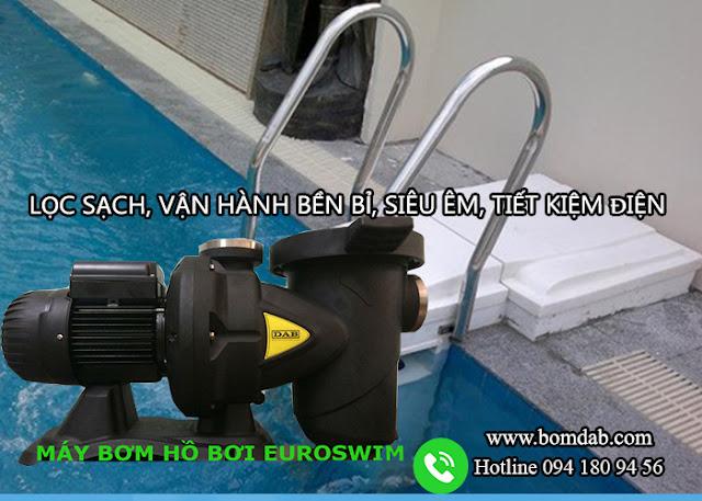 Máy bơm bể bơi Euroswim DAB lọc siêu nhanh, vận hành liên tục, không tiếng ồn