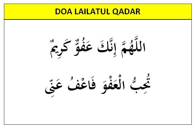 doa lailatul qadar