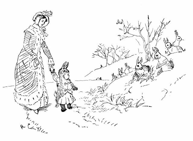 a Randolph Caldecott illustration from Baby Bunting 1899