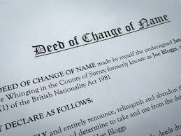 sample and overview of DEED POLL