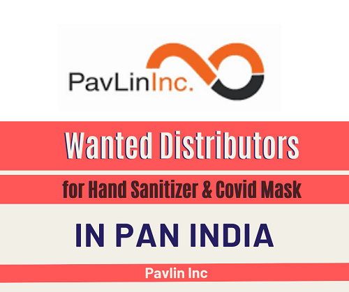 Wanted Distributors for Hand Sanitizer & Covid Mask in India