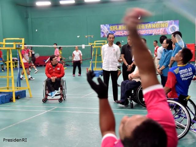 Jokowi Tinjau Kesiapan Atlet Jelang Asian Para Games 2018