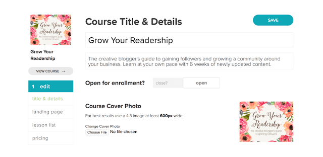 create your own online course for free