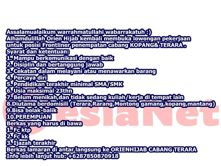 Lowongan Kerja Orien Hijab Mataram Lombok NTB
