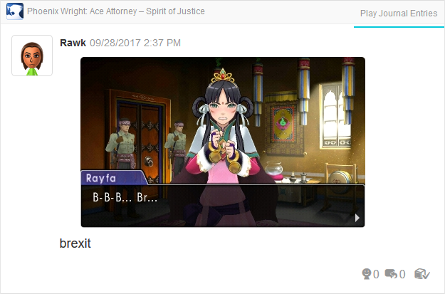 Phoenix Wright Ace Attorney Spirit of Justice rayfa stutter b