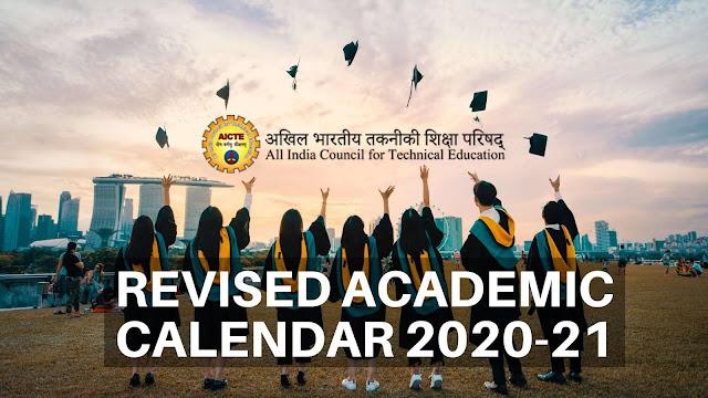 new 2020-2021 aicte revised academic calendar-ktu students