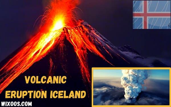 Volcanic eruption at Fagradalsfjall near Reykjavik, Iceland