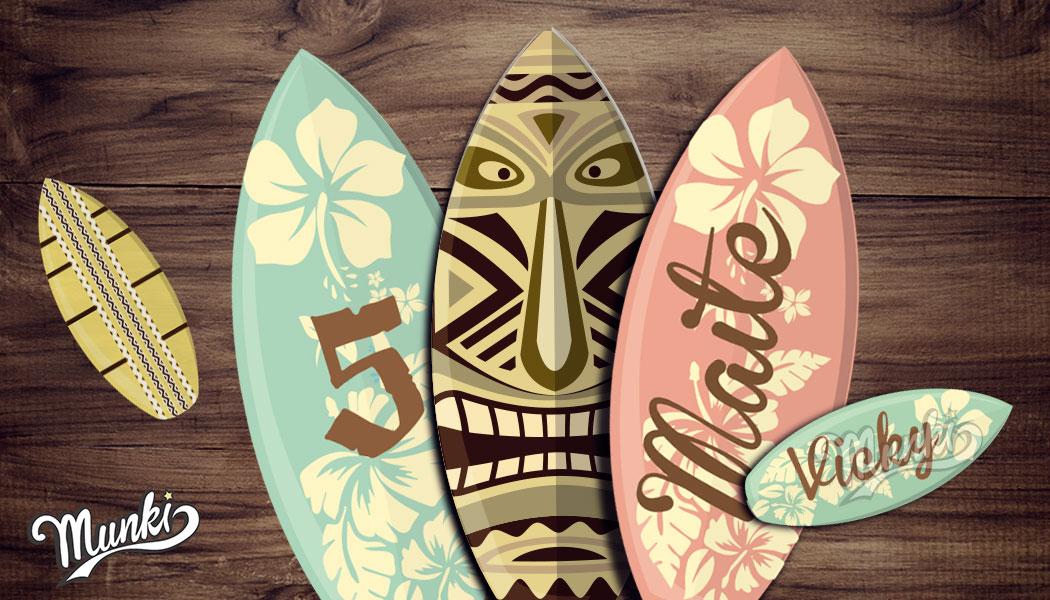 Kit imprimible moana surf munki dise os imprimibles - Tablas de surf personalizadas ...