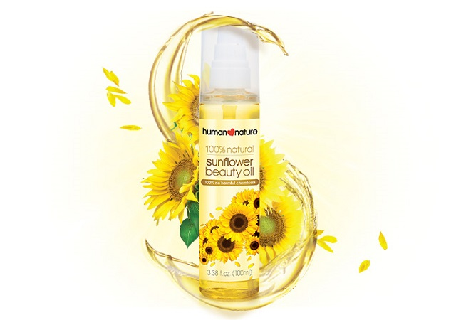 sunflower oil product shot from Human Nature