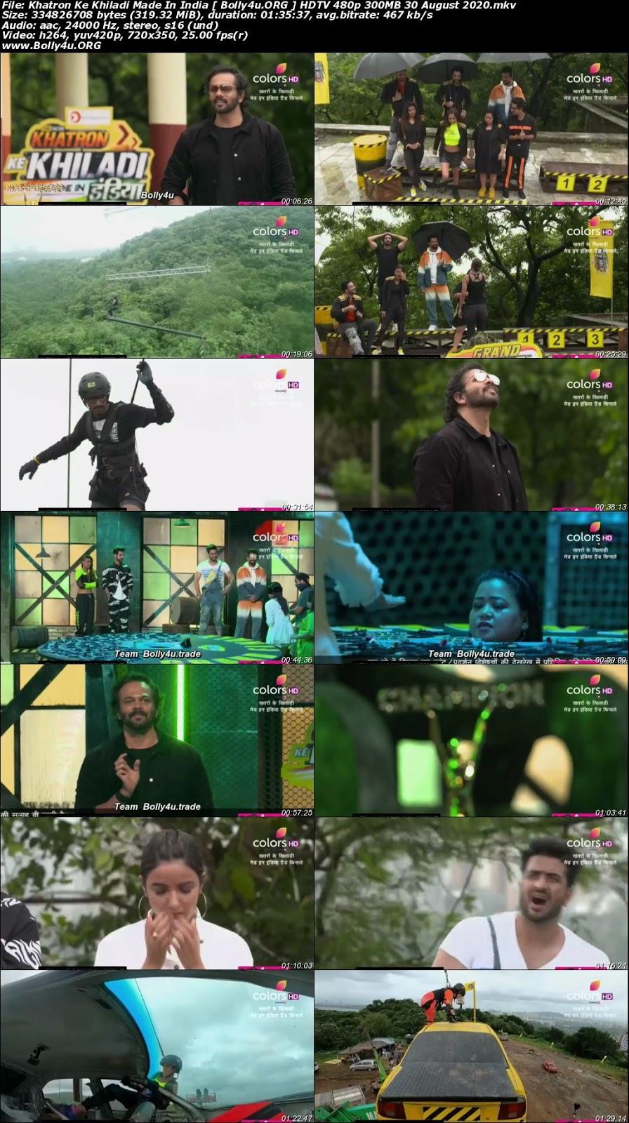 Khatron Ke Khiladi HDTV 480p 300MB 30 August 2020 Download