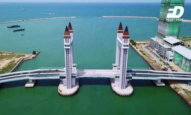 jambatan angkat Terengganu waktu siang