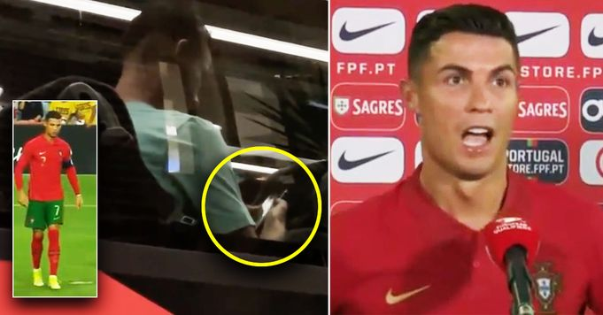 Revealed: Cristiano Ronaldo caught rewatching his goal on team bus after Portugal match