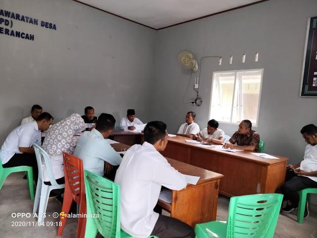 Pemdes Berancah Bersama BPD Desa Berancah Laksanakan Musyawarah RKPDes 2021