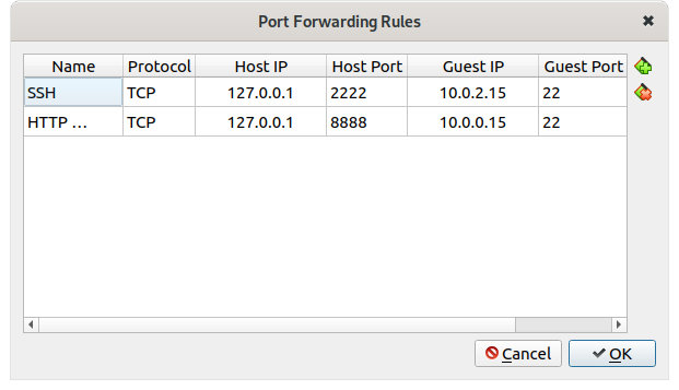 Figure 11: Setting HTTP rule for NAT with port forwarding