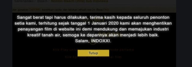 uitan Lucu warga twitter tentang ditutupnya situs Indoxxi