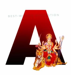 navratri alphabet images a