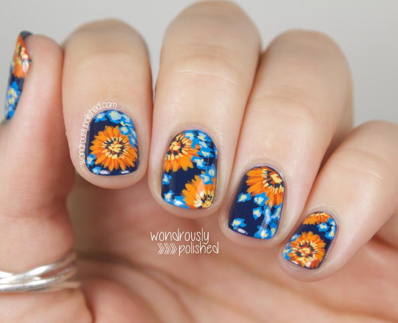 Wondrously Polished: NAGG - Day 5: Blue and Orange Daisy ...