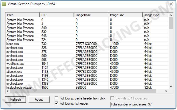 Virtual Section Dumper Screenshot