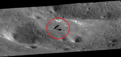 The proof of people either living on or working on the distant, very ancient Moon