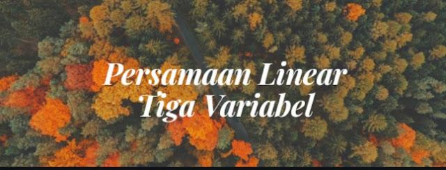 Sistem persamaan linear 3 variabel