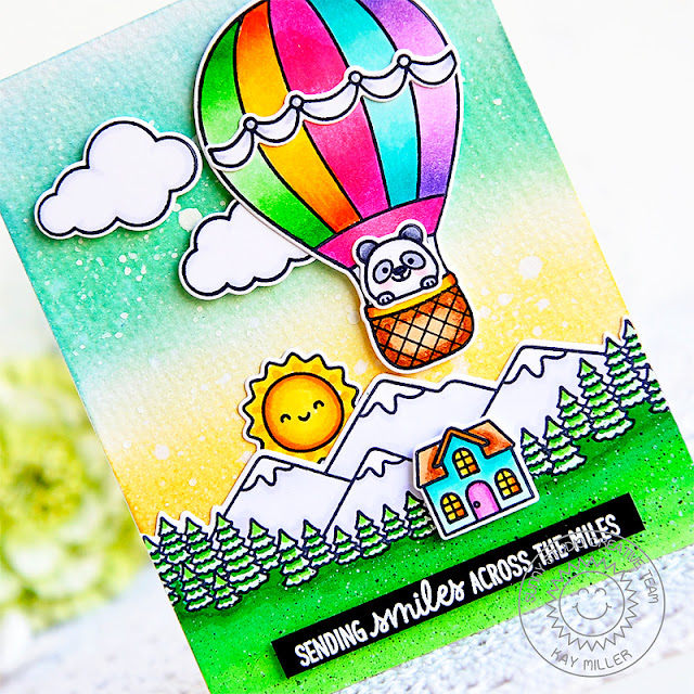 Sunny Studio Stamps: Balloon Rides Country Scenes Everyday Cards by Kay Miller