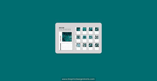 Calendario floral 2020 editable gratis