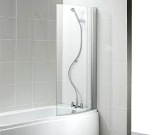 walk in shower splash guard