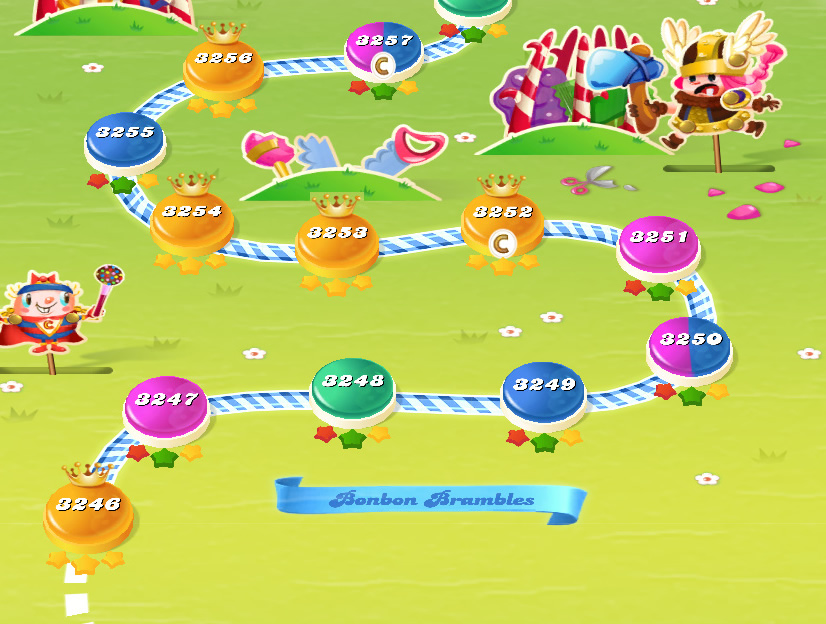 Candy Crush Saga level 3246-3260