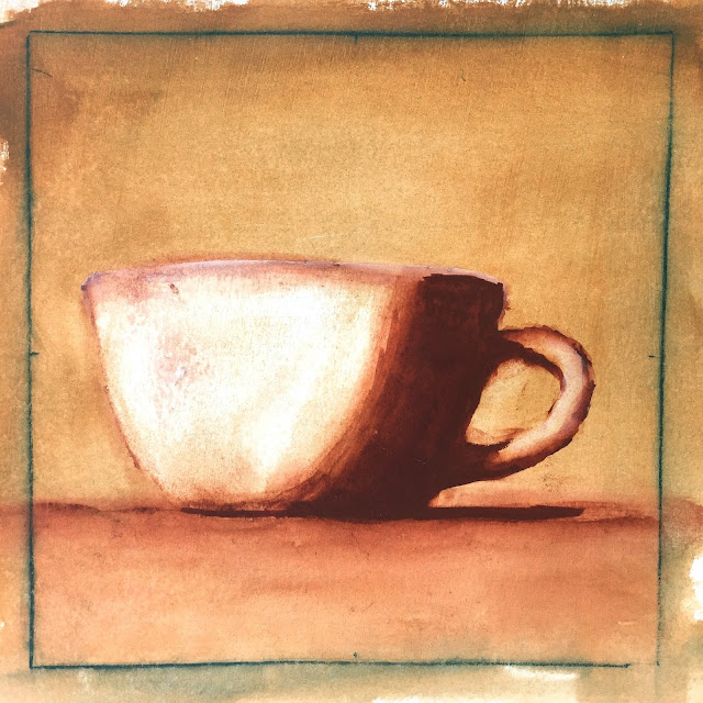 Daily Art 09-29-17 value study of a mug using exercise from Daily Painting by Carol Marine