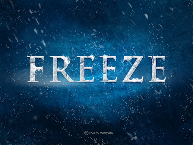Psd Freeze - Free Download Text Effect | Freebies PSD
