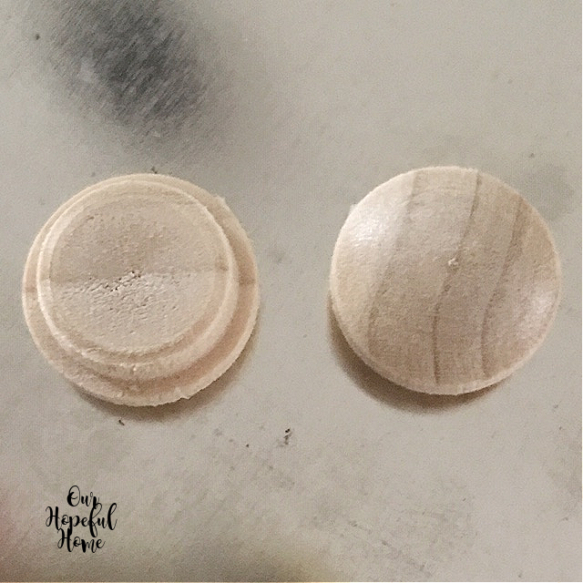 unpainted wood buttons crafting