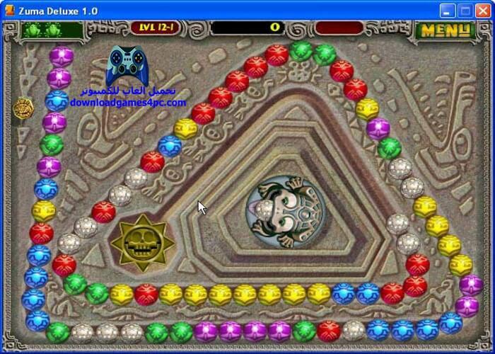 تحميل لعبة زوما الضفدع الاصلية Zuma Deluxe للكمبيوتر برابط سريع