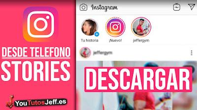 como descargar stories instagram