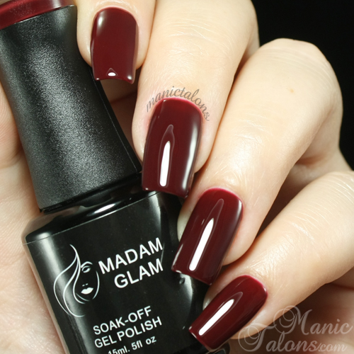 Madam Glam UV Gel 412 Deep Brown Red Swatch