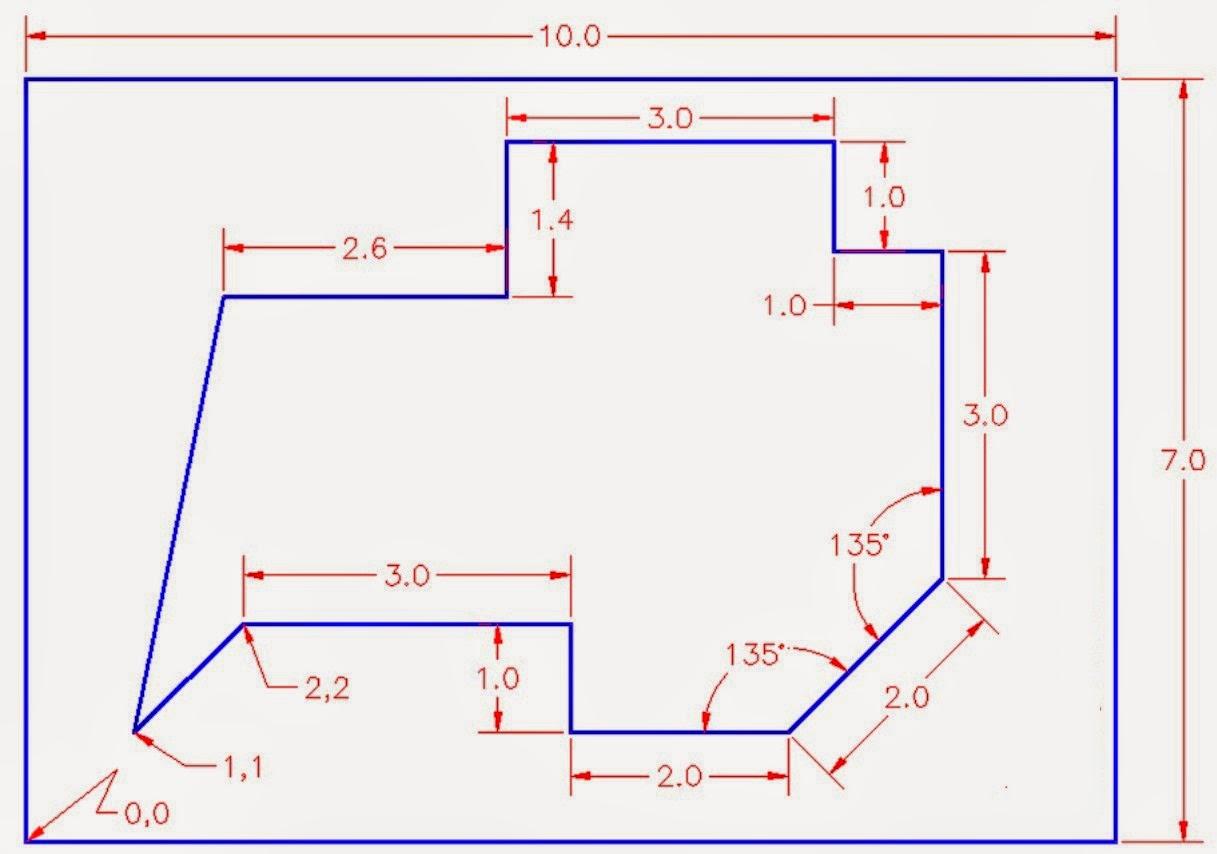 Anda bisa melakukan ini hanya dengan menggunakan line dan kemudian garis bantu dan trim jangan lupa dengan chamfer dan kemudian perhatikan sudut sudutnya