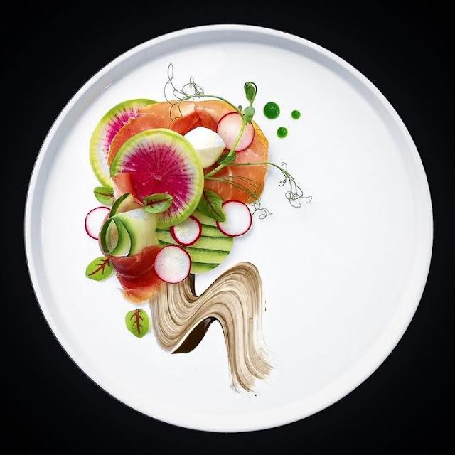 Qua Plating, Đầu bếp đưa món ăn thành tác phẩm nghệ thuật - Ảnh: Internet