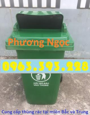 Thùng rác nhựa 240L nắp hở, thùng rác 240 Lít nhựa HDPE, thùng rác nắp hở TRNH240L4