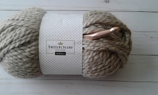taupe buttercream yarn