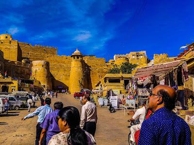 Jaisalmer fort outside view