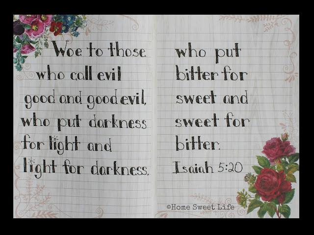 Scripture Writing, Isaiah 5:20