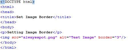 HTML Set Image Border