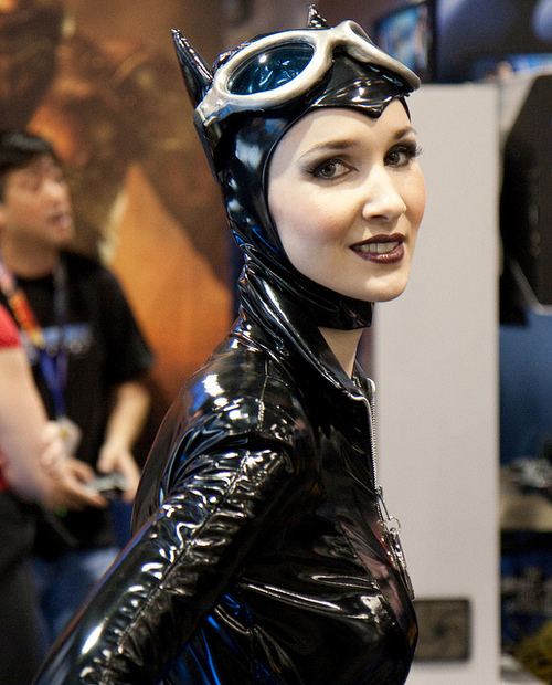 Plastic Catwoman cos play