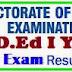 TS D.Ed 1st Year Exam Results at bsetelangana.org