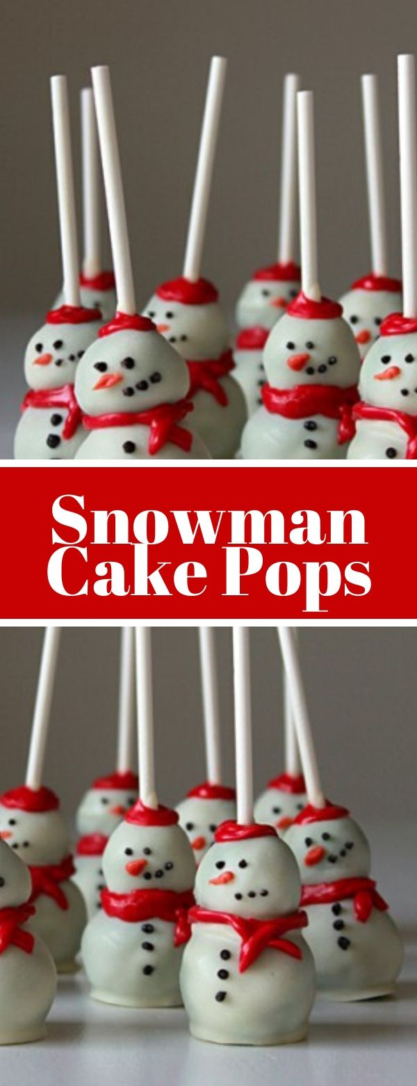 Snowman Cake Pops #cake #lollipop #christmas