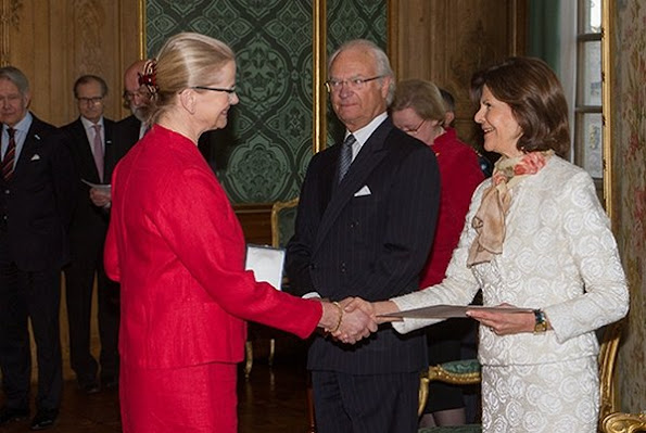 King Carl XVI Gustaf and Queen Silvia attended a medal presentation