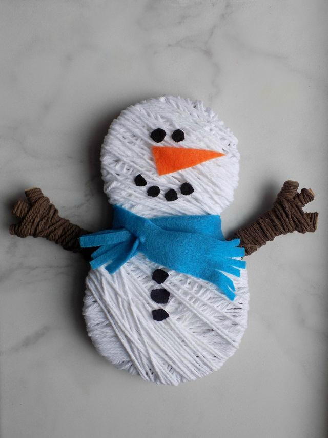 One Savvy Mom Nyc Area Mom Blog Snowman Yarn Wrapping