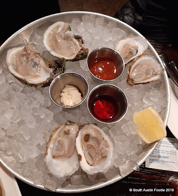 The Shore raw oysters