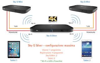 come funziona collegamento sky q, platinum, mini e app