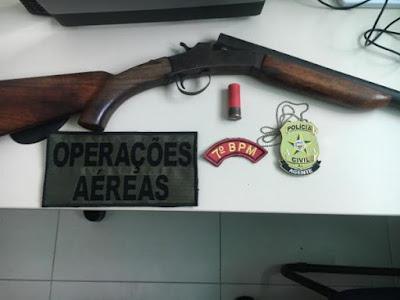 Em Pão de Açúcar, 7º BPM, grupamento aéreo e PC prendem dois por tentativa de homicídio